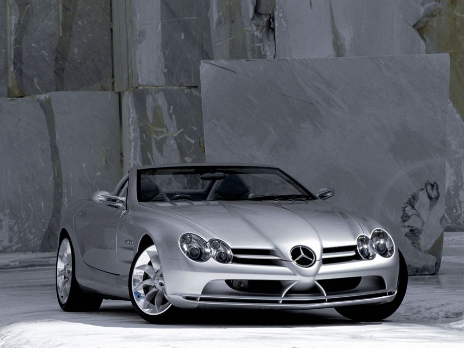 1999 Mercedes Benz Vision SLR Roadster Concept supercar      f wallpaper