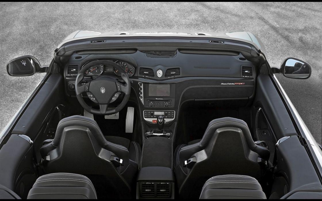 2014 Maserati GranCabrio M-C interior  d wallpaper