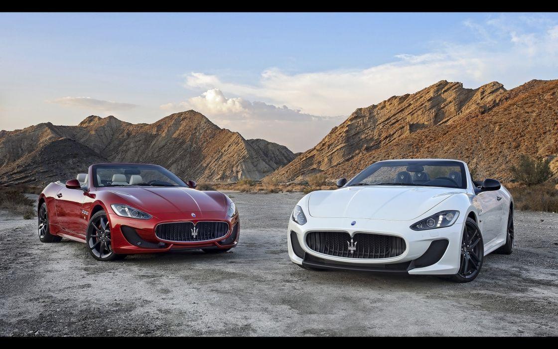 2014 Maserati GranCabrio M-C      f wallpaper