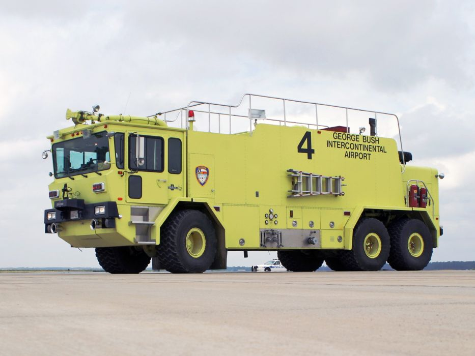 Oshkosh T3000 firetruck emergency      f wallpaper
