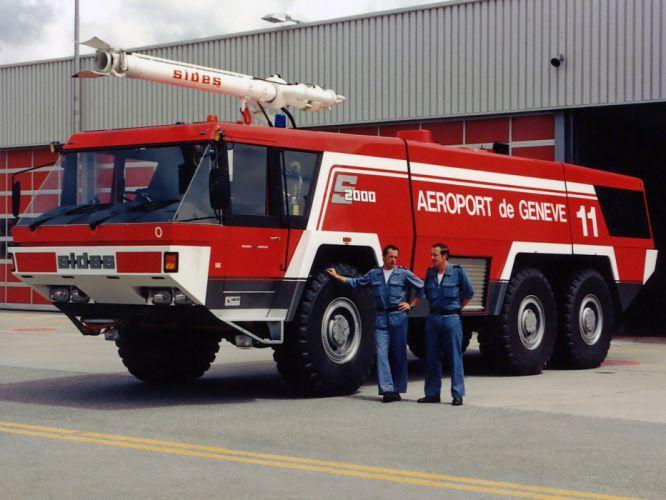 Sides S2000 Mark-3 firetruck emergency semi tractor f wallpaper