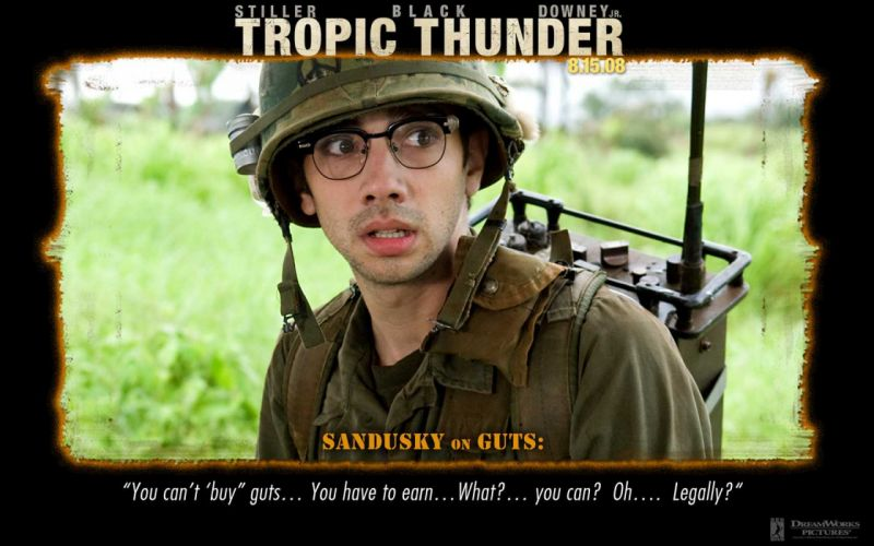 TROPIC THUNDER action comedy military weapon (2) wallpaper