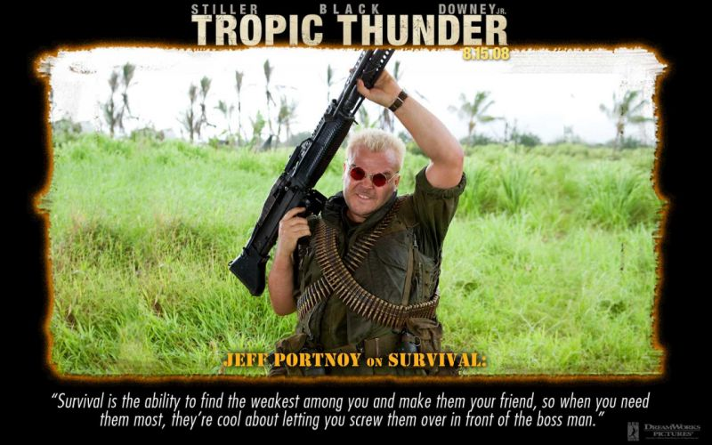 TROPIC THUNDER action comedy military weapon (4) wallpaper