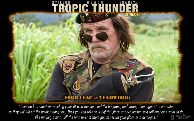 TROPIC THUNDER action comedy military weapon (5) wallpaper