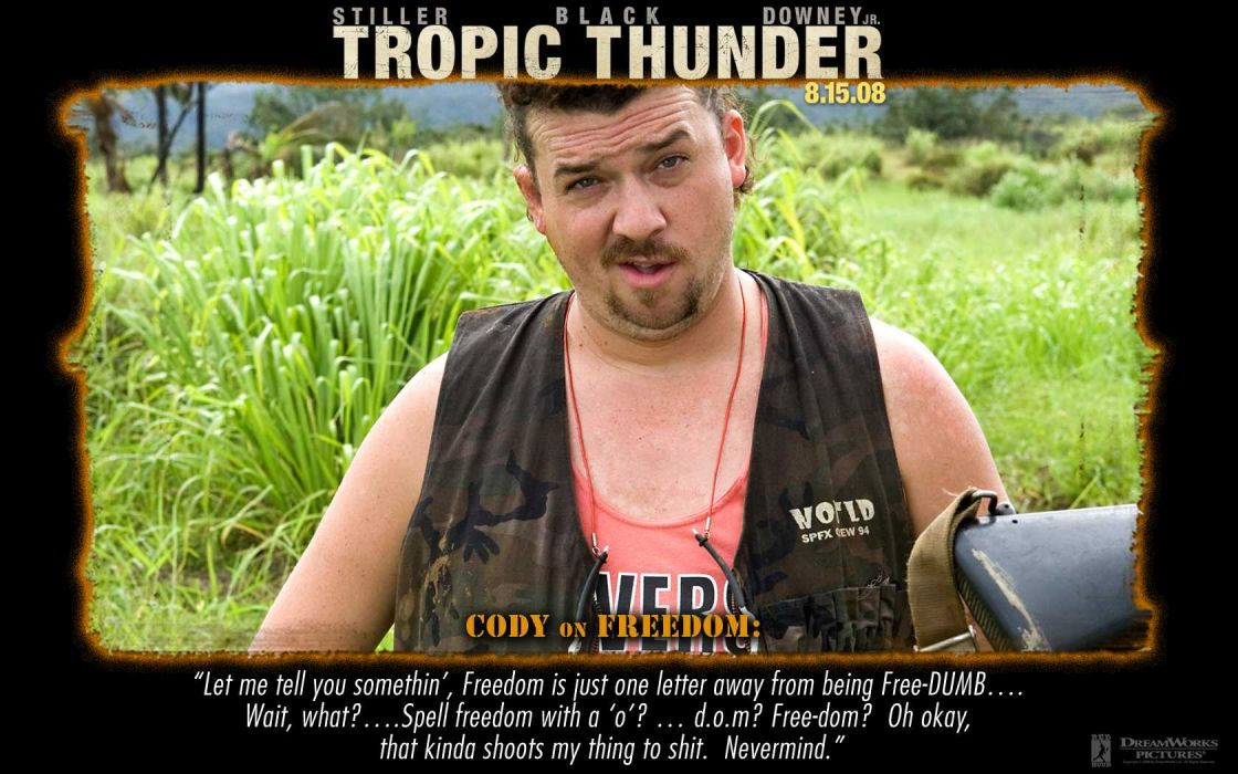 TROPIC THUNDER action comedy military weapon (6) wallpaper