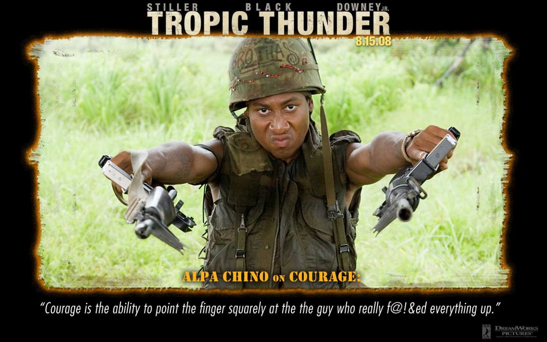 TROPIC THUNDER action comedy military weapon (7) wallpaper