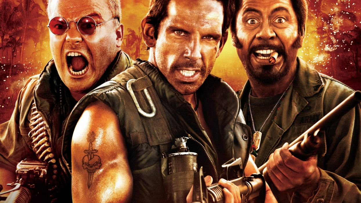 TROPIC THUNDER action comedy military weapon (8) wallpaper