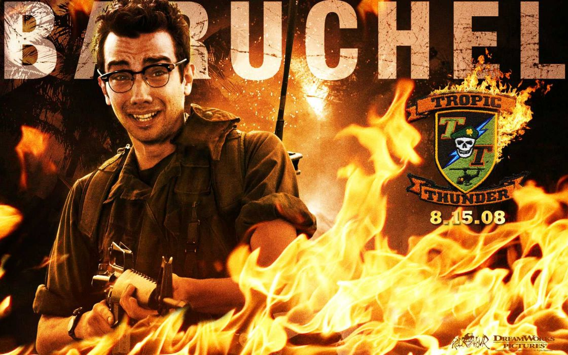 TROPIC THUNDER action comedy military weapon (10) wallpaper