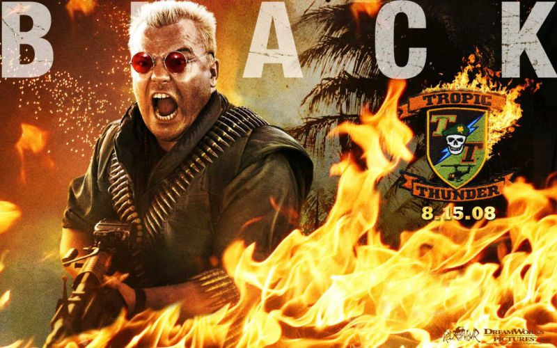 TROPIC THUNDER action comedy military weapon (11) wallpaper