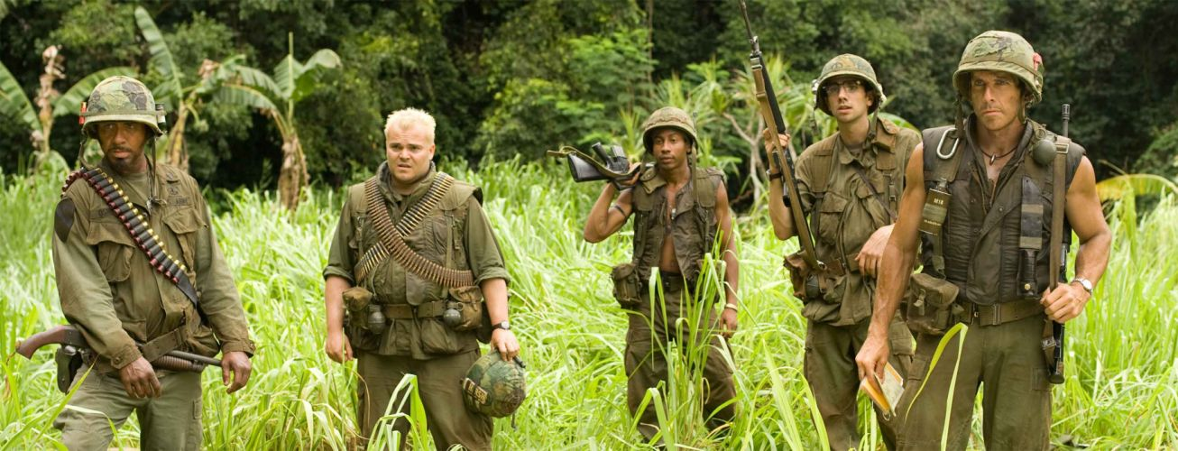 TROPIC THUNDER action comedy military weapon (20) wallpaper