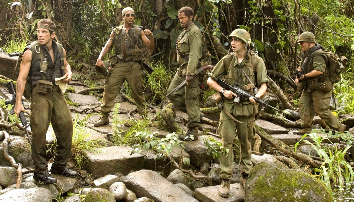 TROPIC THUNDER action comedy military weapon (19) wallpaper