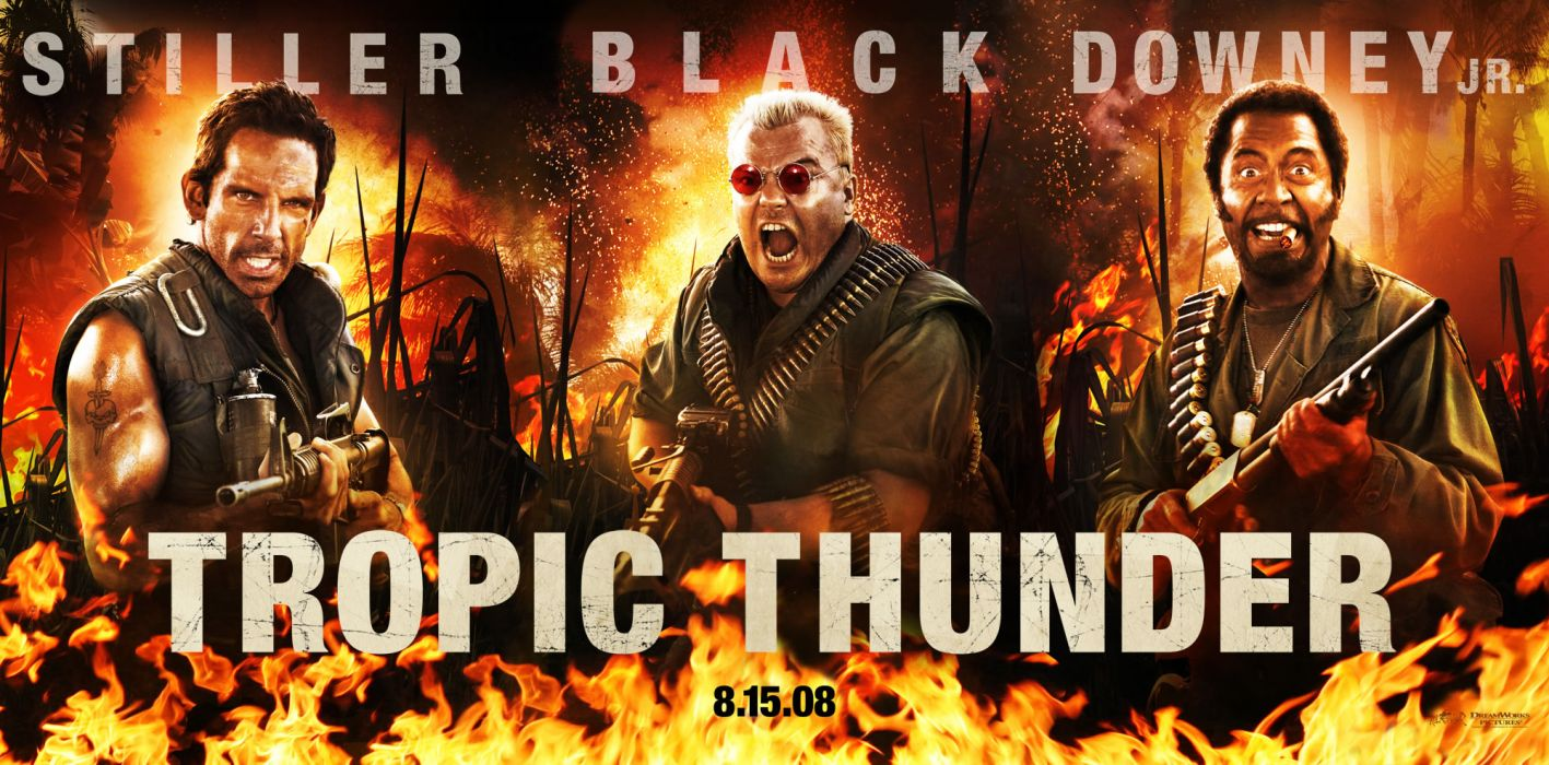 TROPIC THUNDER action comedy military weapon (37) wallpaper