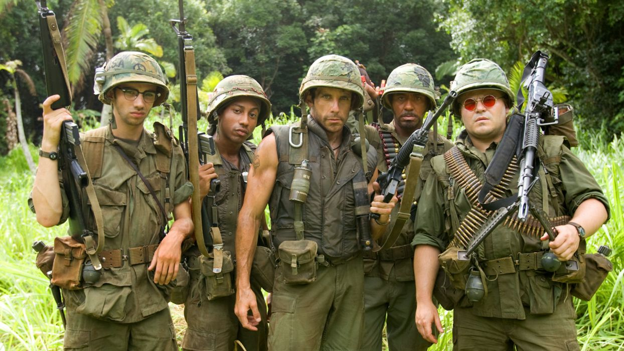 TROPIC THUNDER action comedy military weapon (38) wallpaper