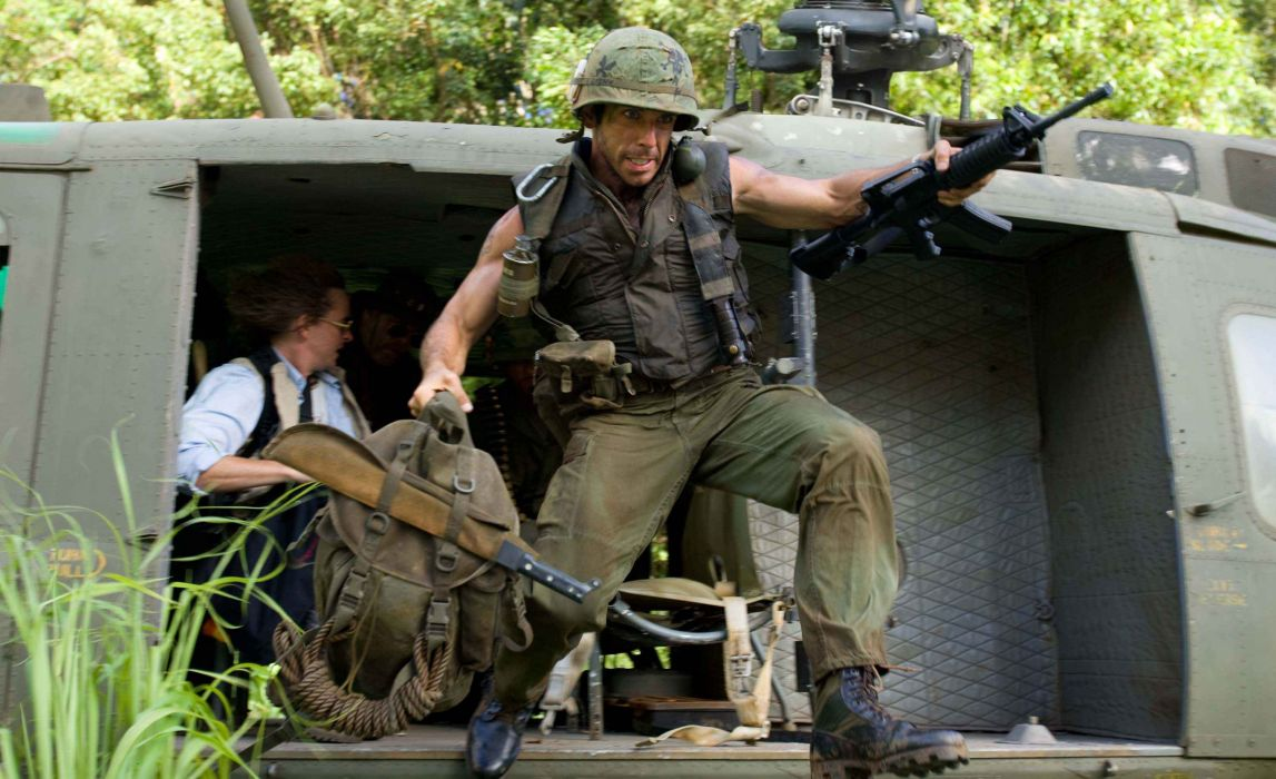 TROPIC THUNDER action comedy military weapon (44) wallpaper
