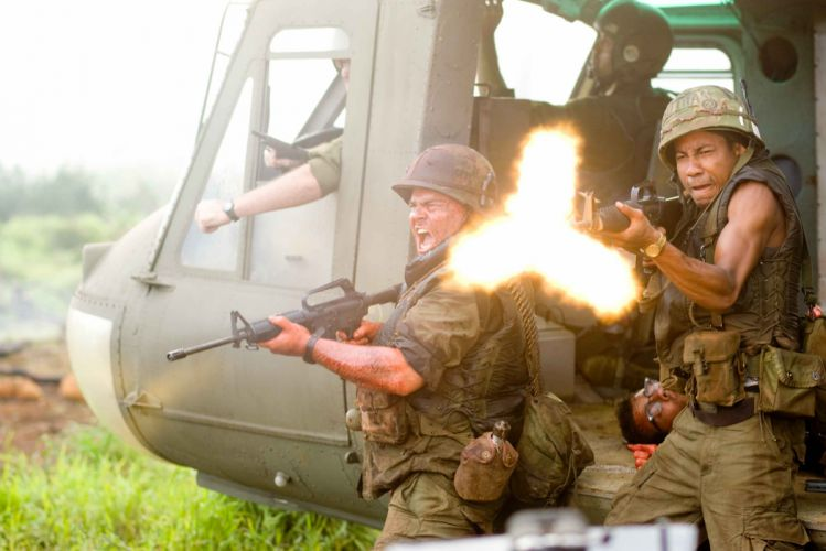 TROPIC THUNDER action comedy military weapon (48) wallpaper
