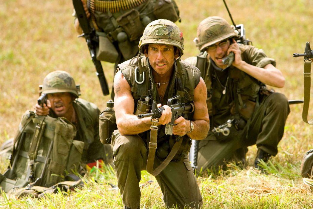 TROPIC THUNDER action comedy military weapon (50) wallpaper
