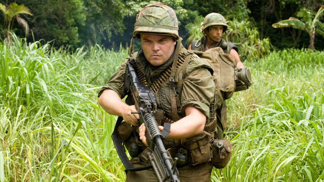 TROPIC THUNDER action comedy military weapon (55) wallpaper
