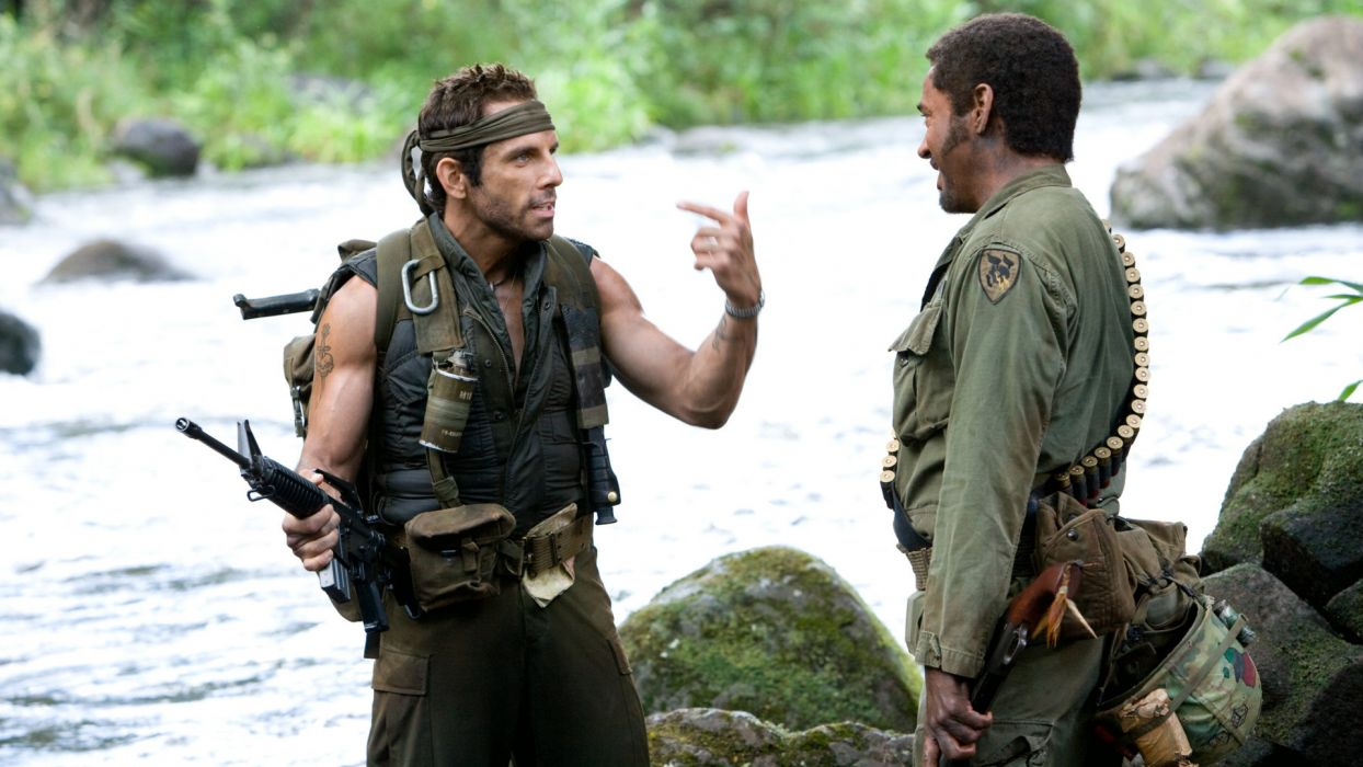 TROPIC THUNDER action comedy military weapon (56) wallpaper