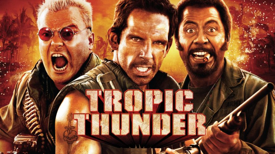 TROPIC THUNDER action comedy military weapon (52) wallpaper