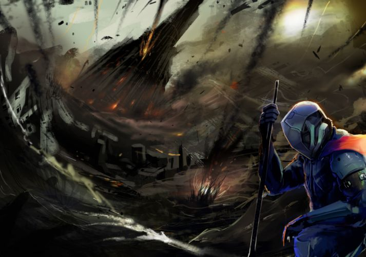 DUST 514 sci-fi action warrior eve weapon (3) wallpaper