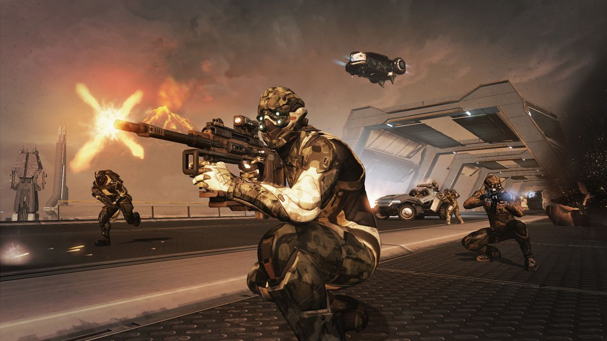 DUST 514 sci-fi action warrior eve weapon (9) wallpaper