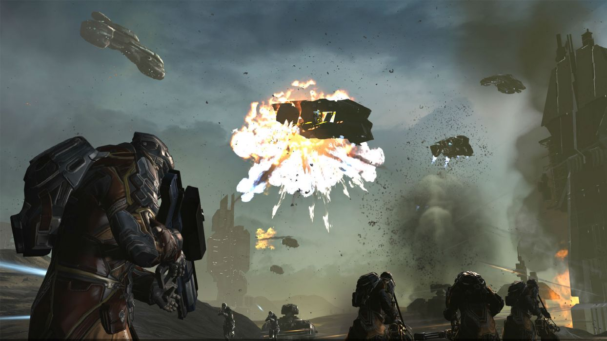 DUST 514 sci-fi action warrior eve weapon (19) wallpaper