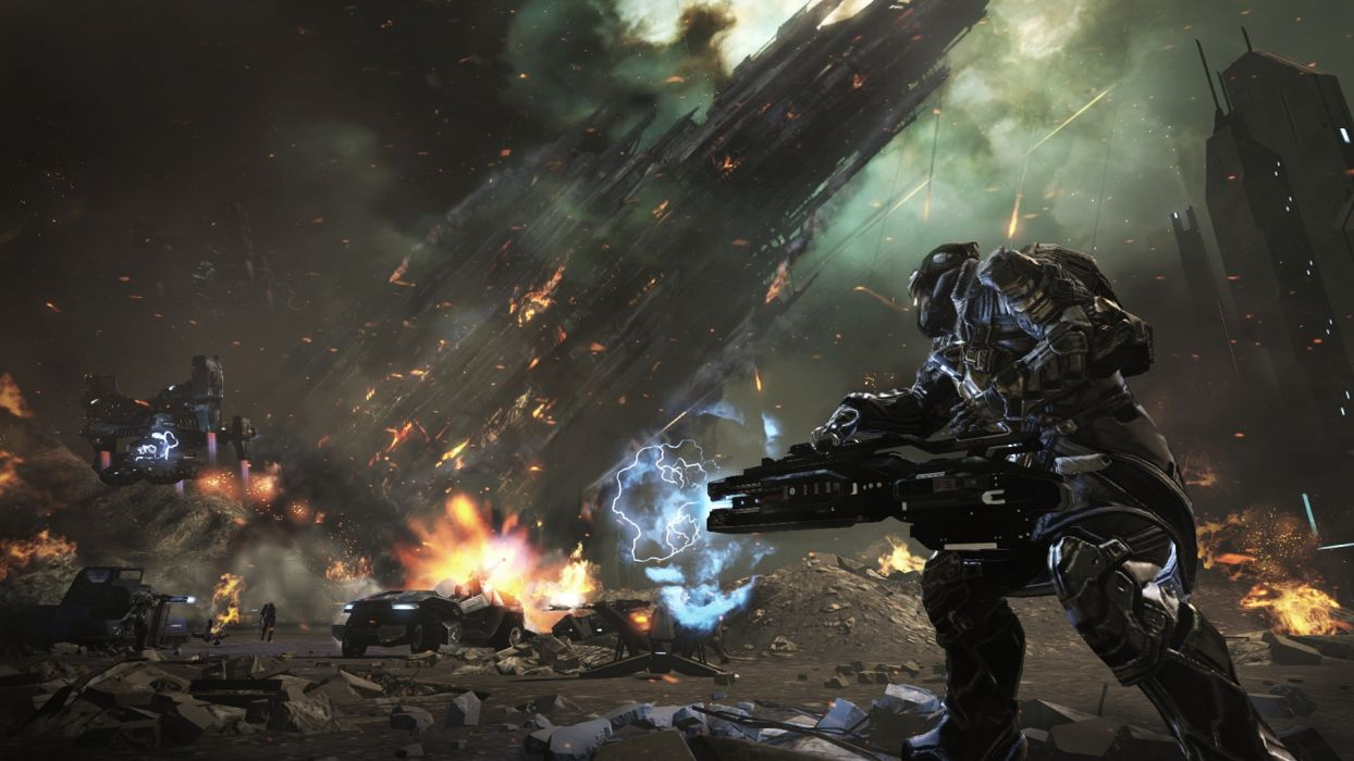 DUST 514 sci-fi action warrior eve weapon (21) wallpaper
