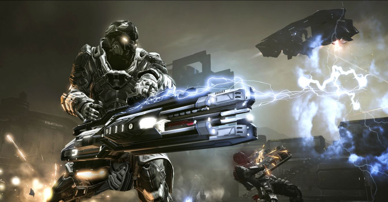 DUST 514 sci-fi action warrior eve weapon (44) wallpaper
