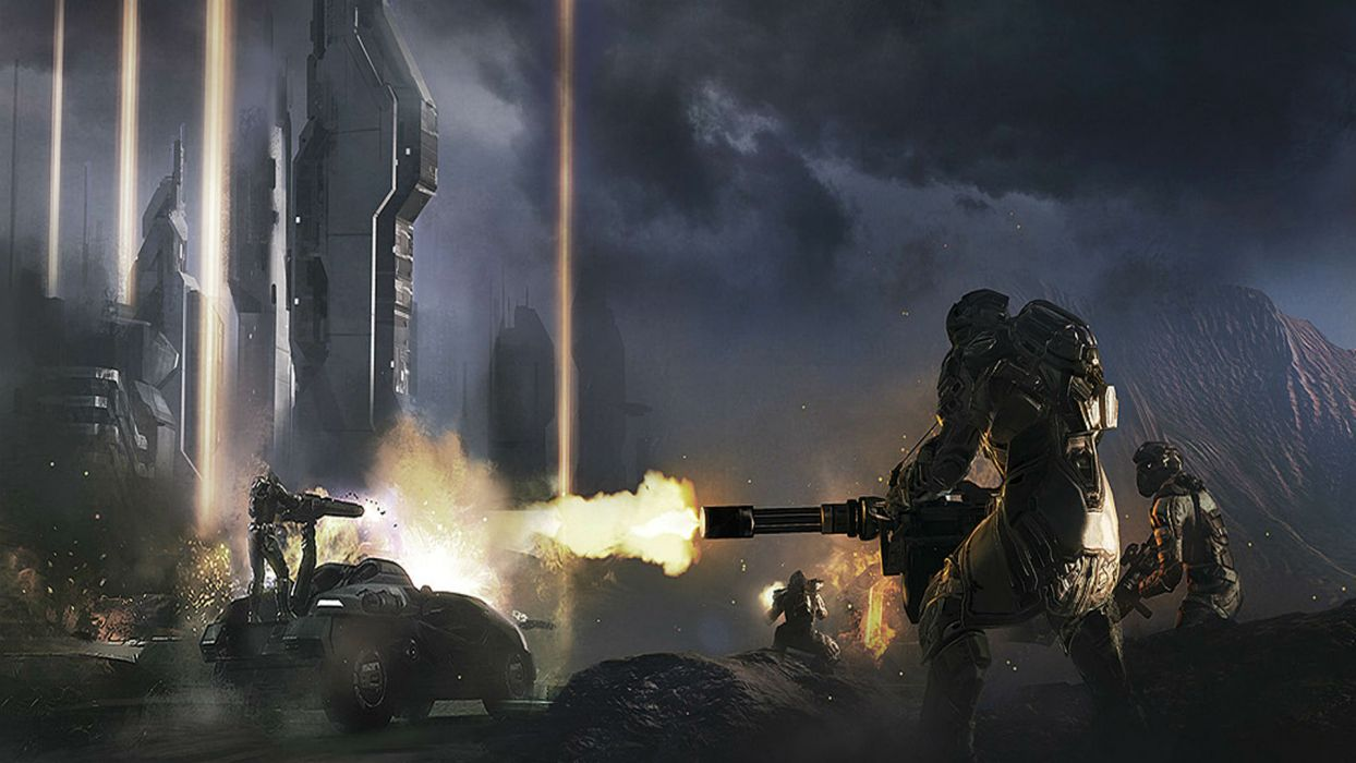 DUST 514 sci-fi action warrior eve weapon wallpaper
