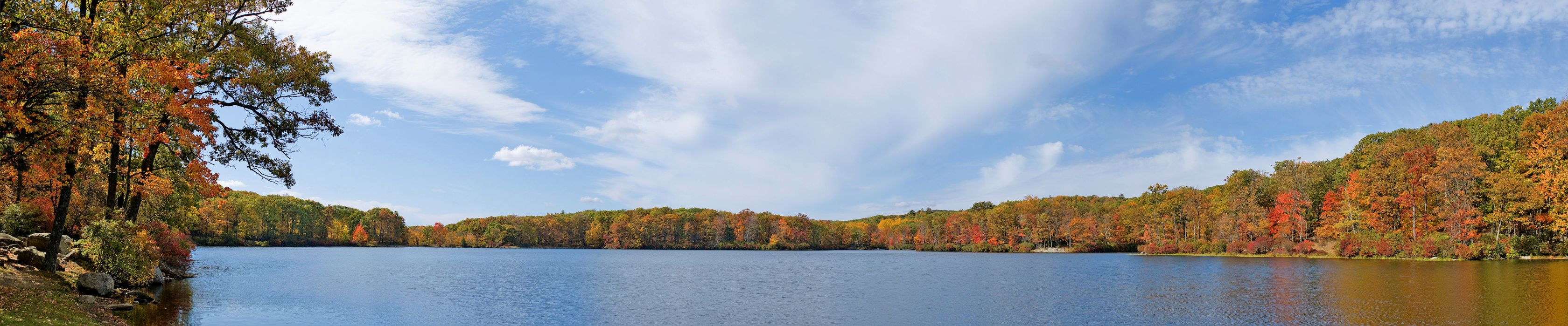 autumn forest lake   f wallpaper