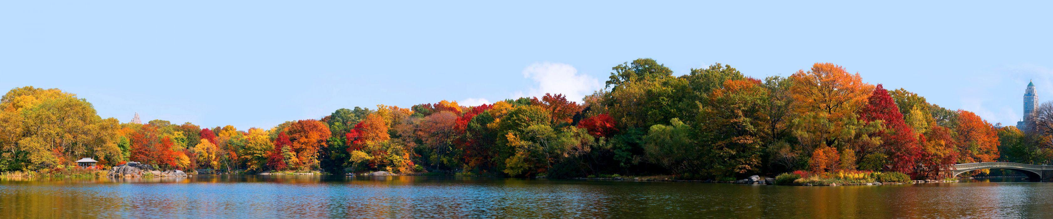 New York Central Park Manhattan Autumn lake    f wallpaper