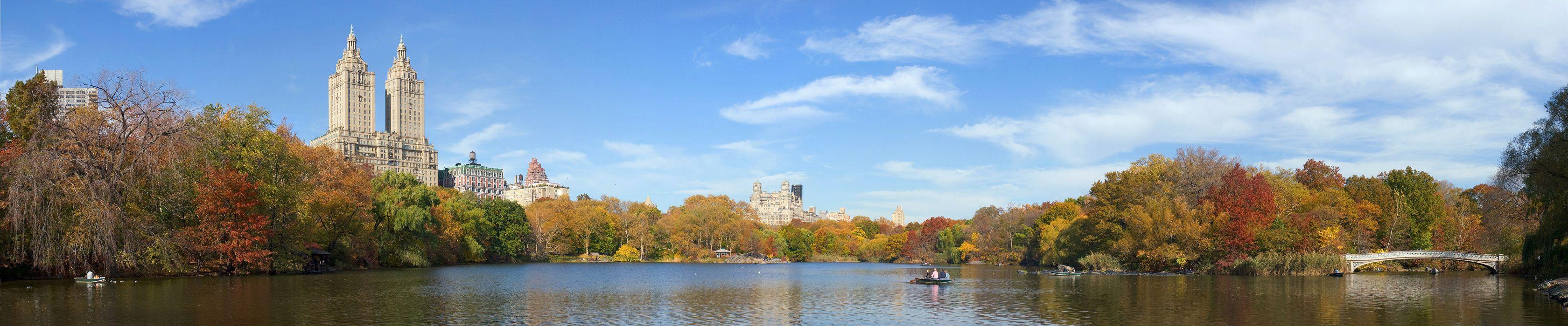 New york city central park autumn lake h wallpaper for Central park wallpaper