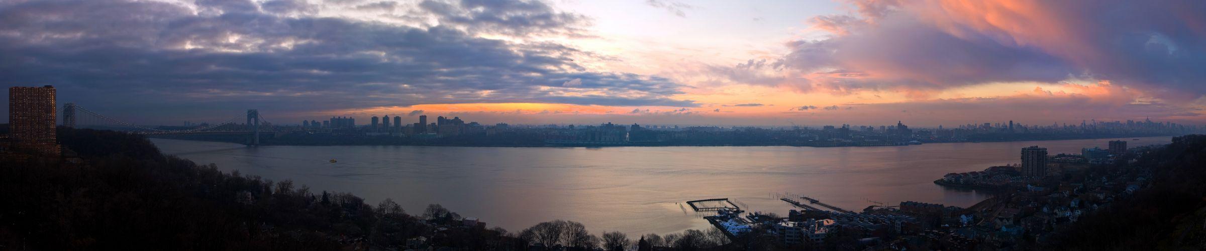 New York Manhattan Hudson River bay g wallpaper