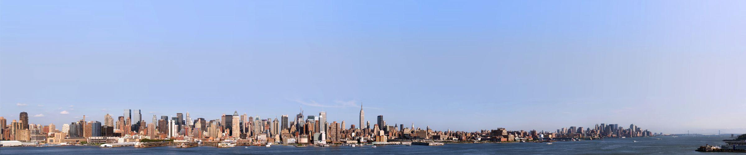 New York Manhattan Hudson River bay r wallpaper