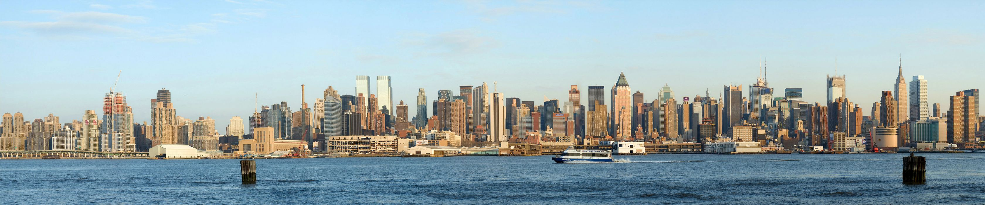 New York Manhattan Hudson River bay       f wallpaper