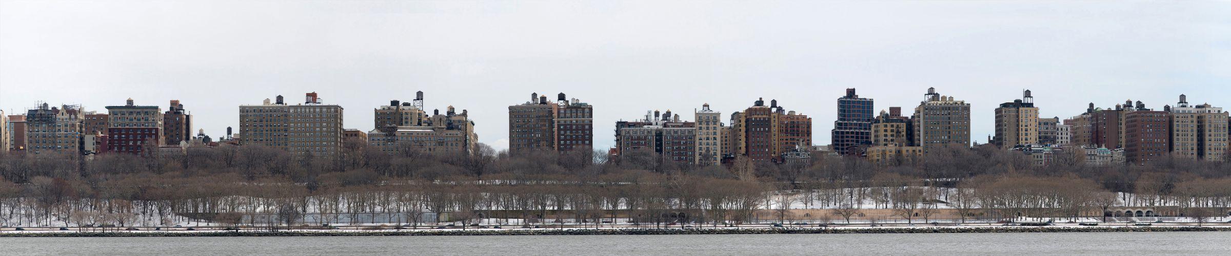 New York Manhattan winter snow f wallpaper
