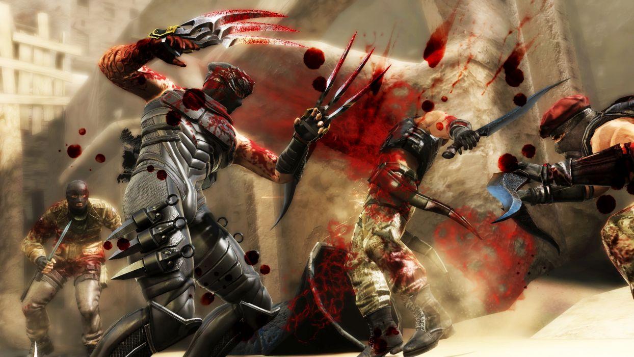 NINJA GAIDEN fantasy anime warrior battle blood dark      h wallpaper