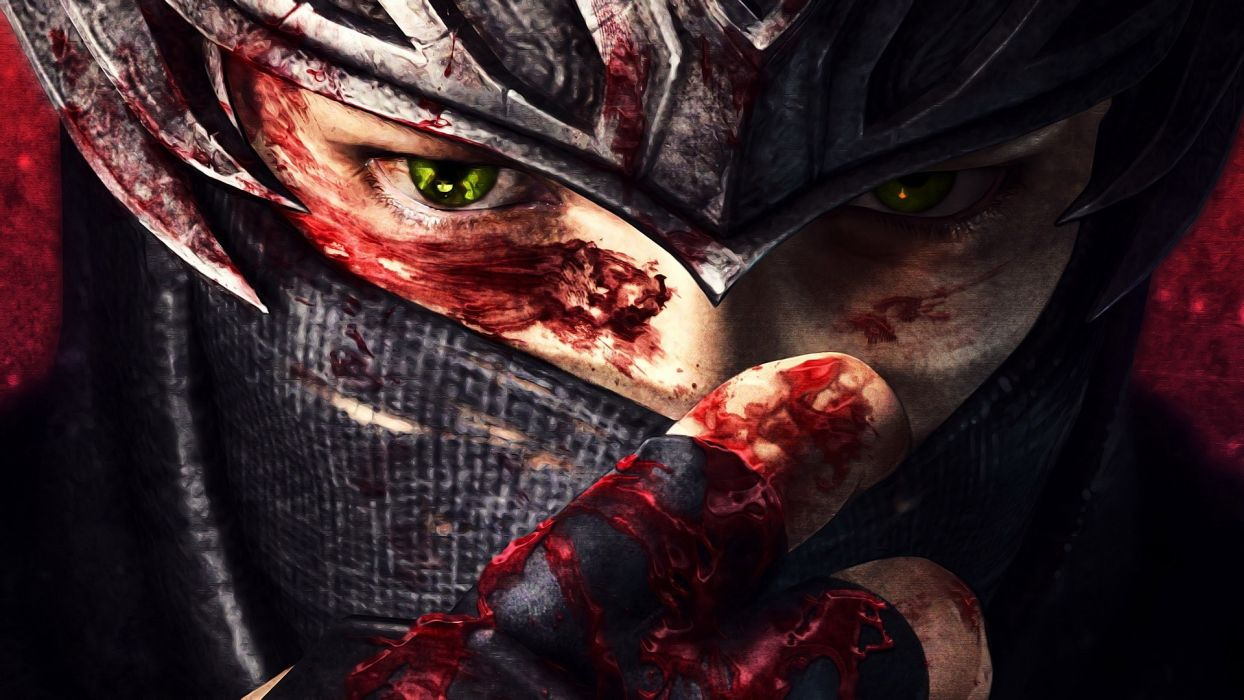 NINJA GAIDEN fantasy anime warrior blood mask     g wallpaper