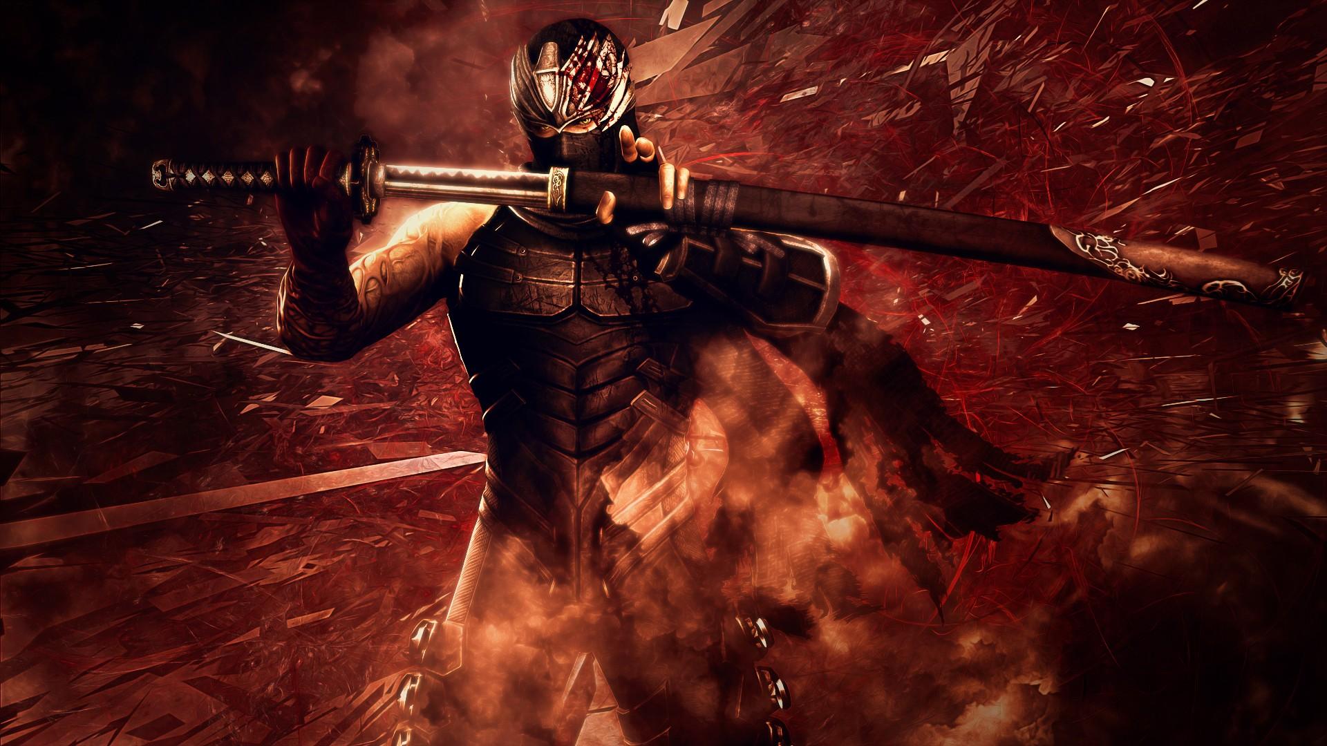 NINJA GAIDEN fantasy anime warrior weapon sword d ...