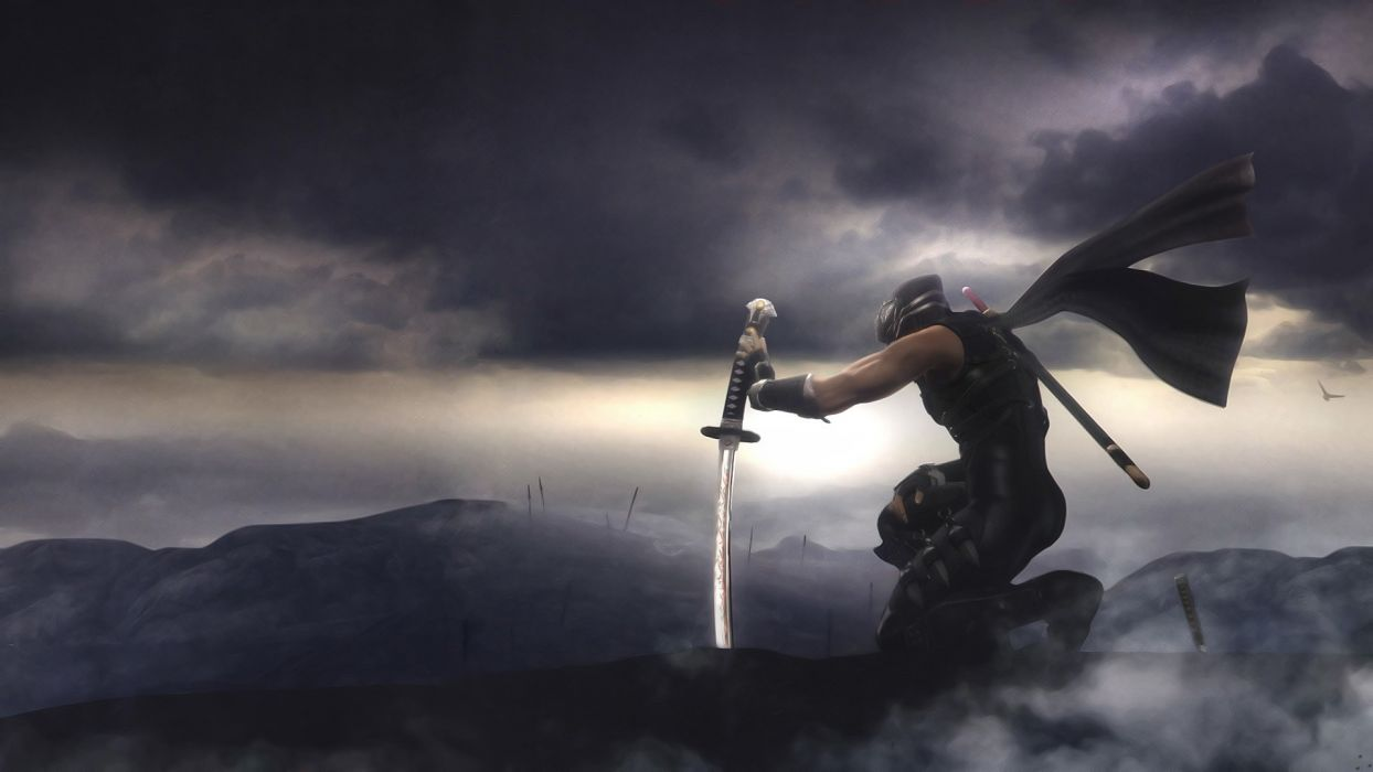 NINJA GAIDEN fantasy anime warrior weapon sword    f wallpaper
