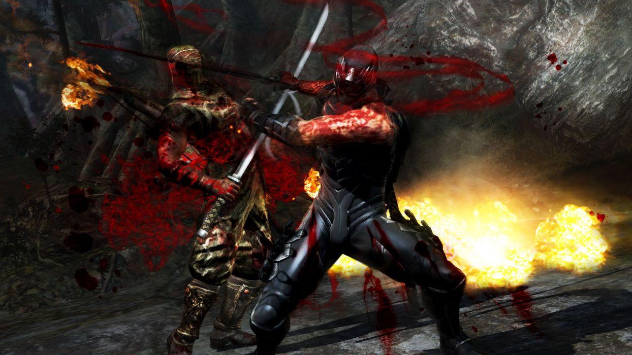 NINJA GAIDEN fantasy anime warrior weapon sword battle blood     g wallpaper