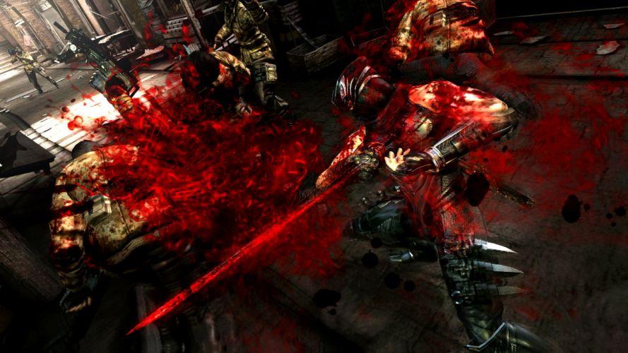 NINJA GAIDEN fantasy anime warrior weapon sword battle blood d wallpaper