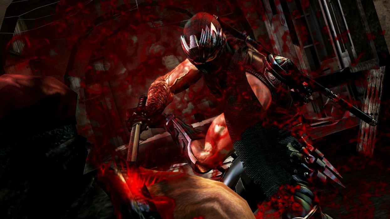 NINJA GAIDEN fantasy anime warrior weapon sword battle blood    f wallpaper