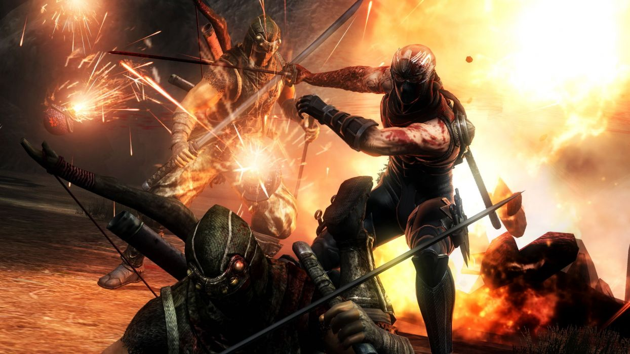 NINJA GAIDEN fantasy anime warrior weapon sword battle blood fire     g wallpaper