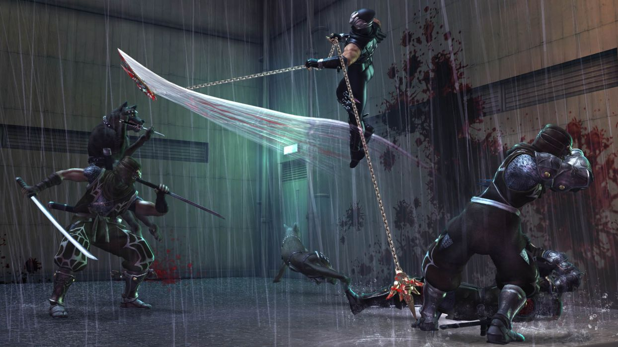 NINJA GAIDEN fantasy anime warrior weapon sword battle chain     f wallpaper