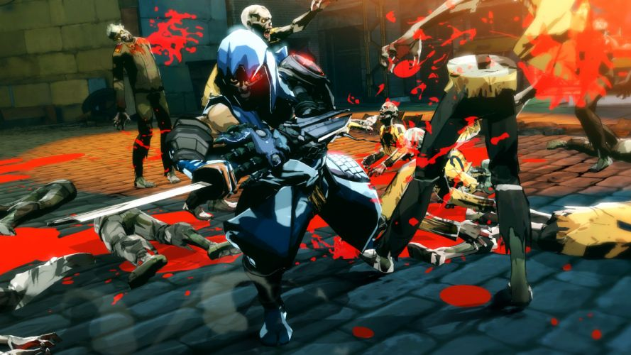 NINJA GAIDEN fantasy anime warrior weapon sword battle dark zombie blood f wallpaper