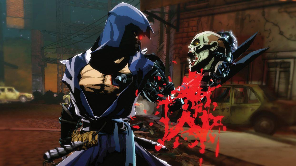NINJA GAIDEN fantasy anime warrior weapon sword battle dark zombie blood skull    h wallpaper