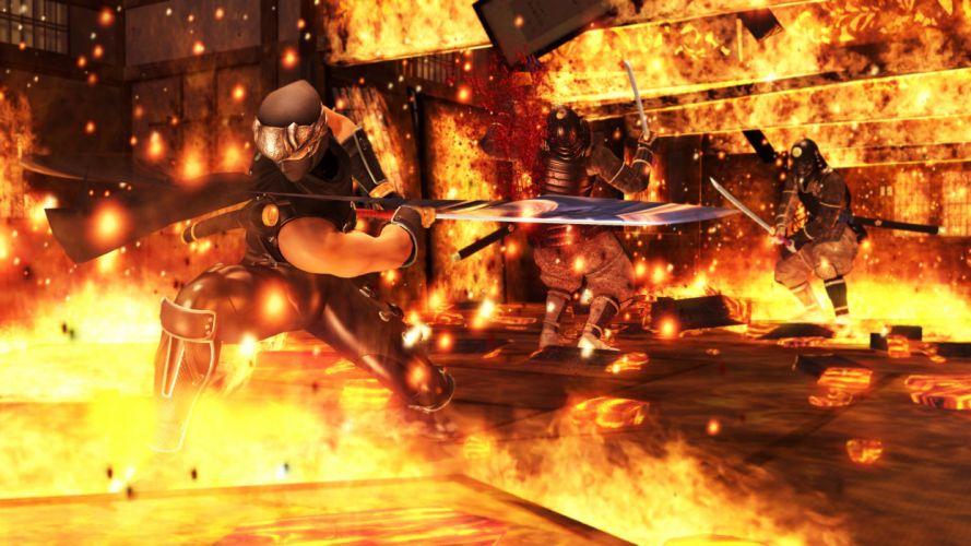 NINJA GAIDEN fantasy anime warrior weapon sword battle fire f wallpaper