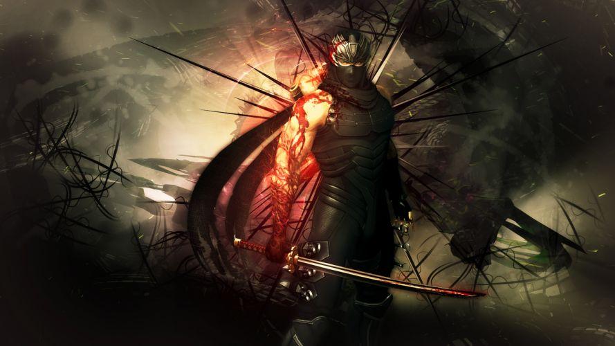 NINJA GAIDEN fantasy anime warrior weapon sword blood f wallpaper