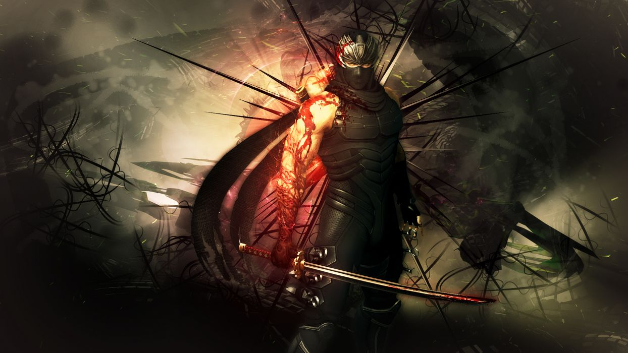 NINJA GAIDEN fantasy anime warrior weapon sword blood     f wallpaper